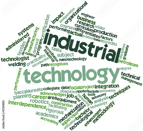 Word cloud for Industrial technology