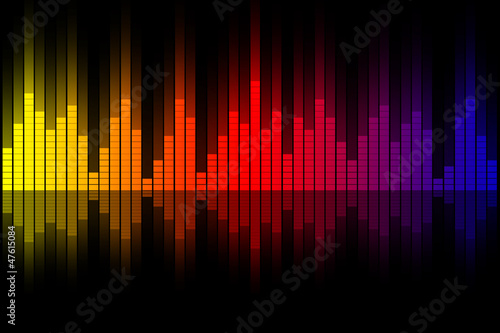 Music equalizer wave illustration