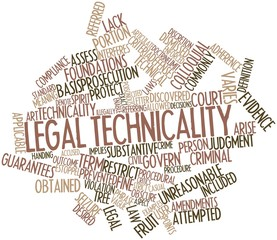 Word cloud for Legal technicality
