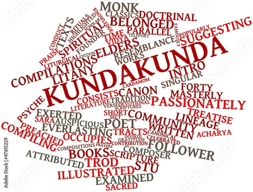 Word cloud for Kundakunda