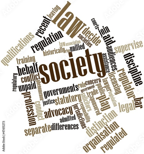 Word cloud for Law society