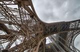 Paris - Eiffel Tower. Wonderful view of metal structure detail
