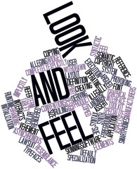 Word cloud for Look and feel