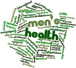 Word cloud for Men's health