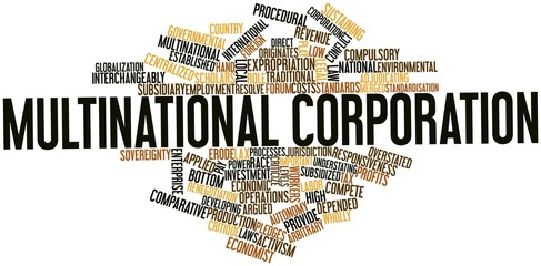 Word cloud for Multinational corporation