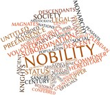 Word cloud for Nobility