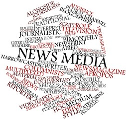 Word cloud for News media