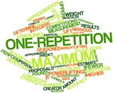 Word cloud for One-repetition maximum poster