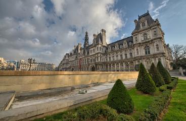Wonderful view of Hotel de Ville in Paris, City Hall