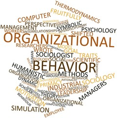 Word cloud for Organizational behavior