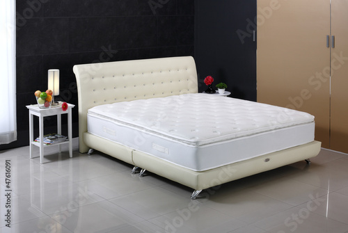 Nice mattress and bed set, built for photography in studio - 47616091