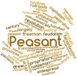 Word cloud for Peasant