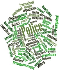 Word cloud for Police