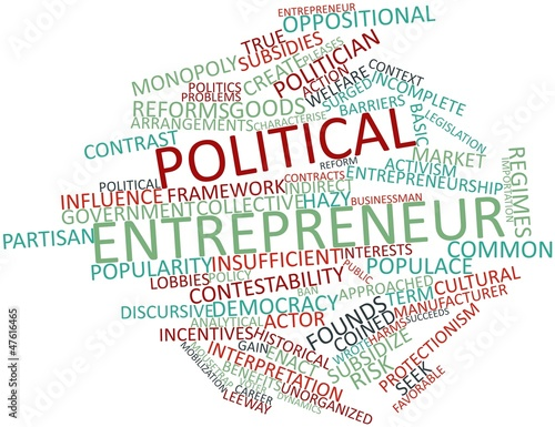 Word cloud for Political entrepreneur