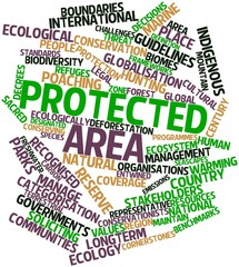 Word cloud for Protected area