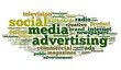 Social Media dvertising concept on tag cloud