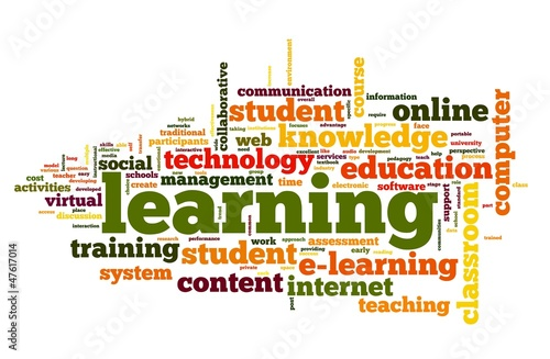 Learning concept in word cloud