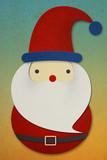 Santa Claus papercut ongrunge background poster