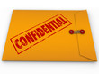 Confidential Classified Envelope Secret Information