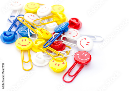 smiling face paper clips