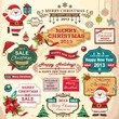 Collection of christmas ornaments and decorative elements