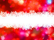 Red Christmas background with copyspace. EPS 8