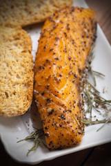 Salmone affumicato - Smoked salmon