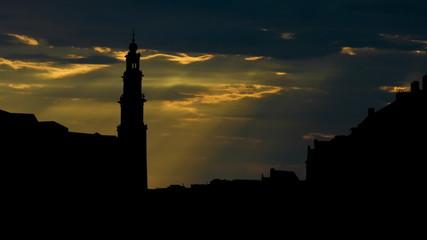Nederland Westerkerk sunbeams