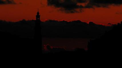 Nederland Westerkerk sunset