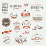 Set of vintage badges and elements