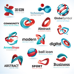 Set of abstract business icons