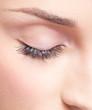Closed eye with eye shadows