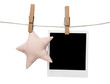Blank polaroid photo frame with Star