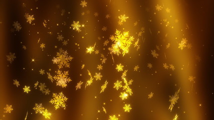 Golden snowflakes.