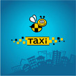 City ​​taxi logo, vector