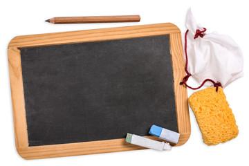 Schultafel mit Platz für Text, blackboard