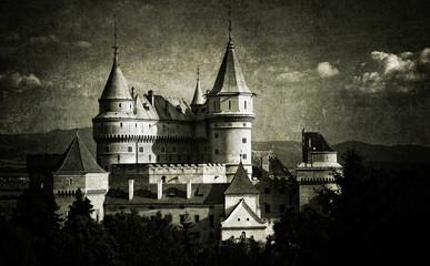 Vintage Castle Bojnice, Slovakia