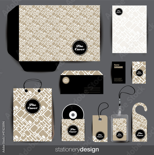 Stationery design set