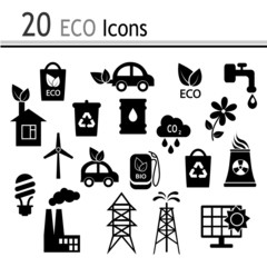 20 Icons - ecology and industry(Vector)