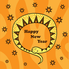 New Year's card 2 (vector)