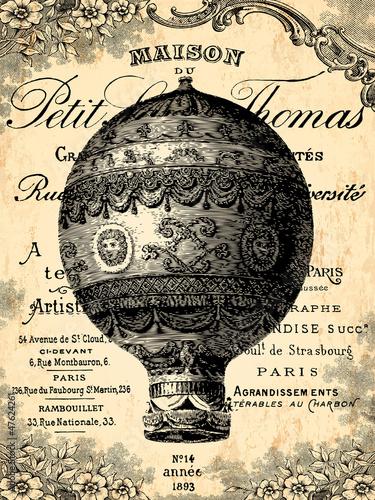 Plakat Montgolfière