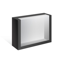 Black Package Box with a transparent window