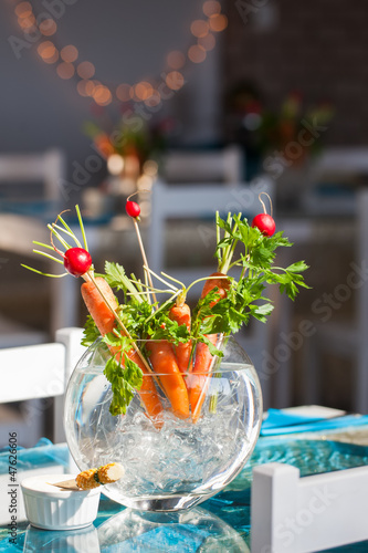 Carrots in a pot