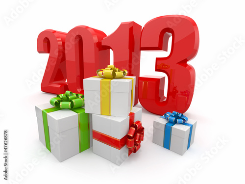 Happy New year 2013. Gifts.