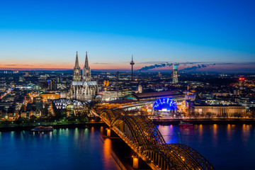 Cologne Night Skyline