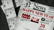 Happy New Year 2013 newspaper animation