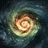 Incredibly beautiful spiral galaxy somewhere in deep space - 47631017