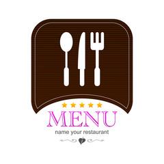 Menu kitchen colored icon logo