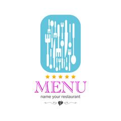 kitchen menu icon sign