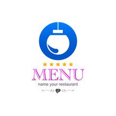 Christmas kitchen menu sign logo icon